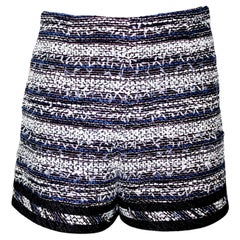 NEW Chanel Multicolor Tweed & Denim Jeans Hot Pants Shorts