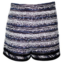 NEW Chanel Multicolor Tweed & Denim Shorts Hot Pants