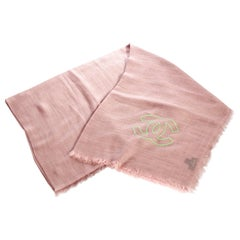 New Chanel Pink Cashmere Silk Shawl