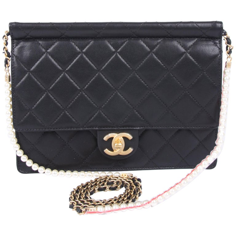 New! Chanel Quilted Flap Bag 2019 - black For Sale