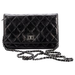 NEW Chanel Reissue Black Wallet On A Chain