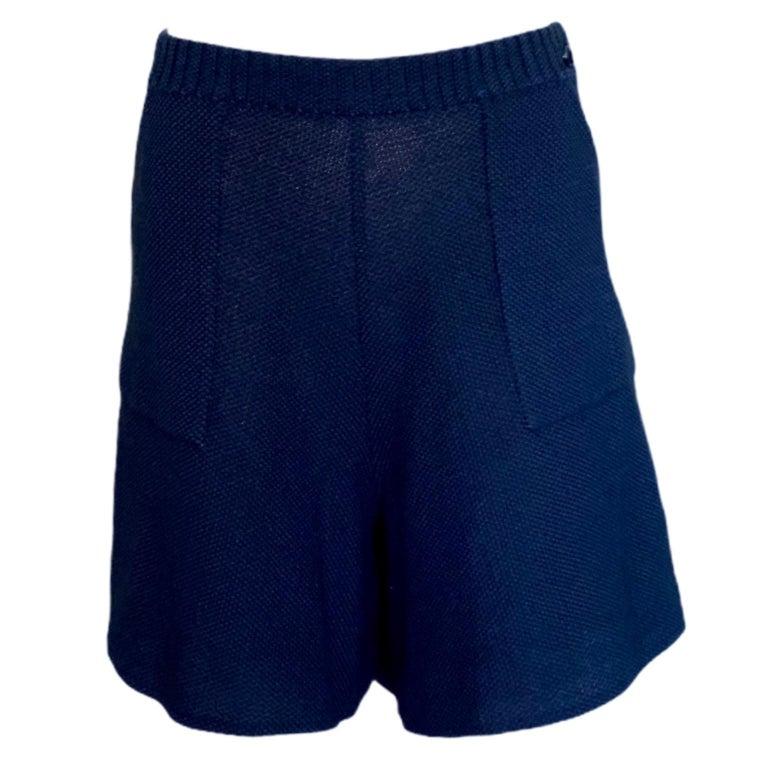 Women's NEW Chanel Signature Crochet Knit Bermuda Shorts Pants For Sale