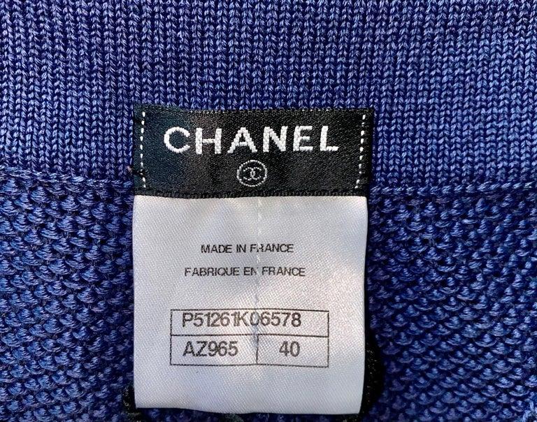 NEW Chanel Signature Crochet Knit Bermuda Shorts Pants For Sale 3