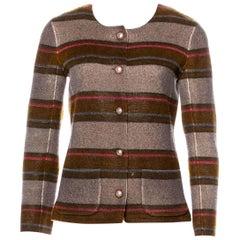 NEW Chanel Striped Signature Cashmere Jacket Blazer
