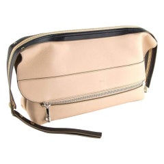 New Chloe Beige Leather Oversized Clutch Bag