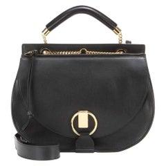 New Chloe Black Leather Goldie Shoulder Bag
