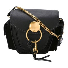 New Chloe Black Leather Jodie Cross Body Shoulder bag