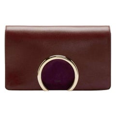New Chloe Gabrielle Burgundy Leather Clutch