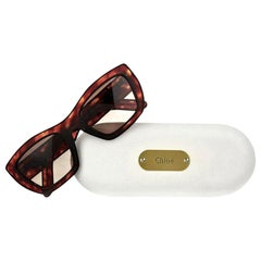 New Chloe New Tortoise Retro Sunglasses With Case & Box