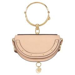 New Chloe Nile Minaudière Leather Crossbody Beige Bag