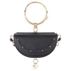 New Chloe Nile Minaudière Leather Crossbody Black Bag