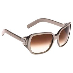 New Chloe Silver Beige Sunglasses With Case & Box