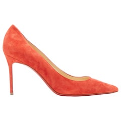 new CHRISTIAN LOUBOUTIN Kate 85  red suede point toe pigalle pump EU38