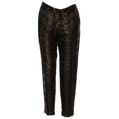 New Collectible Gucci Silk Abstract Runway Magazine Pants F/W 2013 Sz 40 $2275