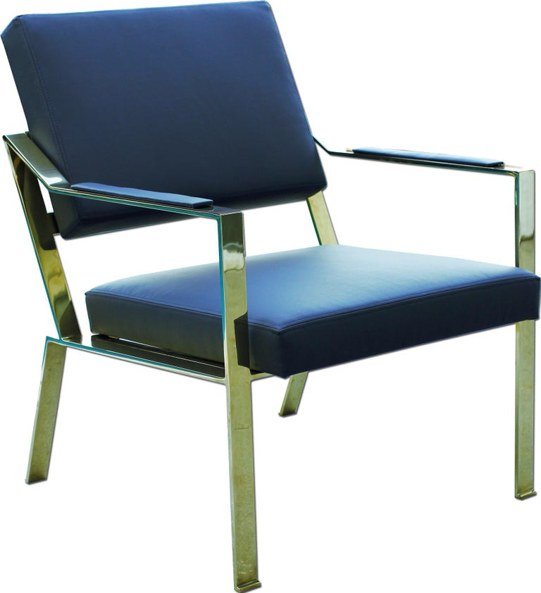 American Brass chairs, Model PM1 For Sale