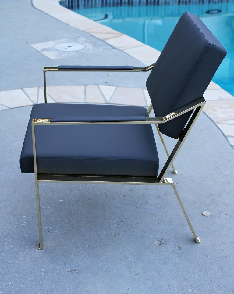 Contemporary Brass chairs, Model PM1 For Sale