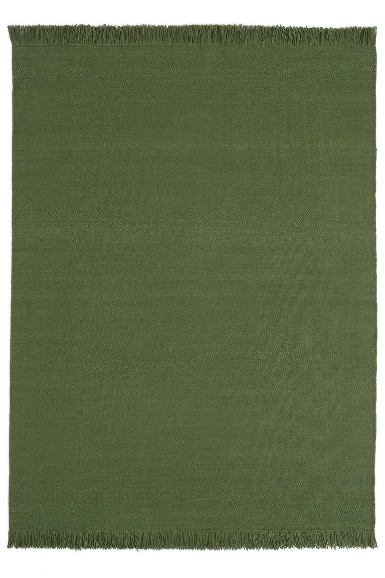 Hand-Crafted NEW - Colors Basil Dhurrie Standard Natural Wool Rug by Nani Marquina For Sale