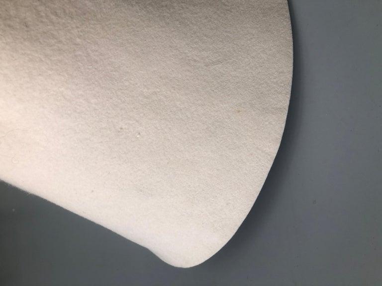 Beige new COMME DES GARCONS HOMME PLUS 2015 cream wool felt structured bowl hat rare For Sale