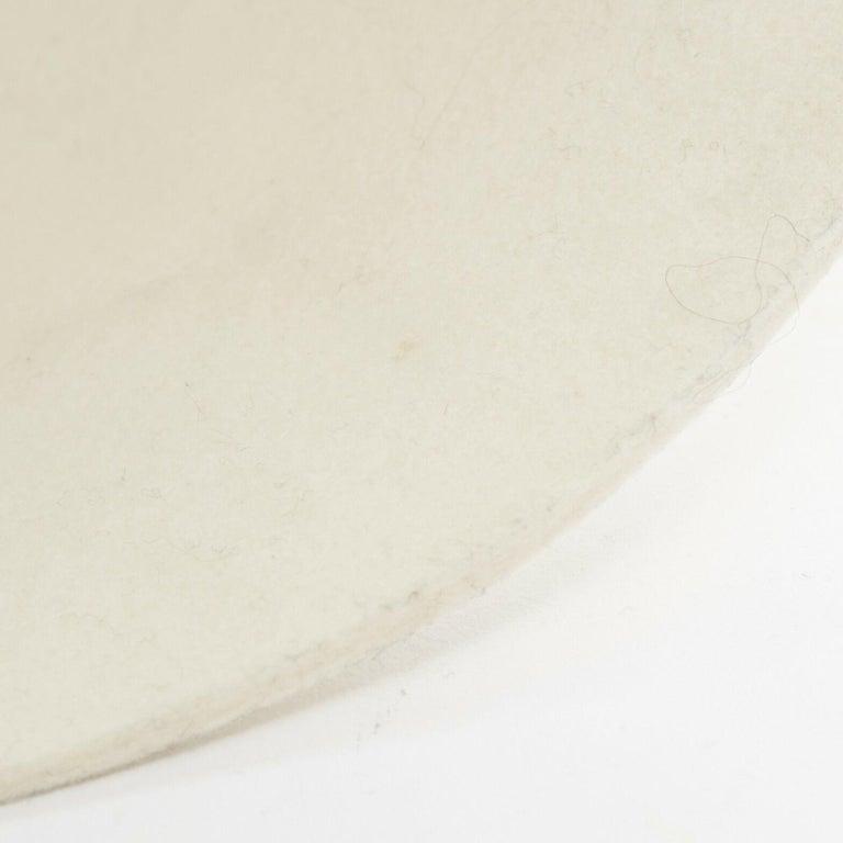 Men's new COMME DES GARCONS HOMME PLUS AW15 beige wool felt structured bowl hat For Sale