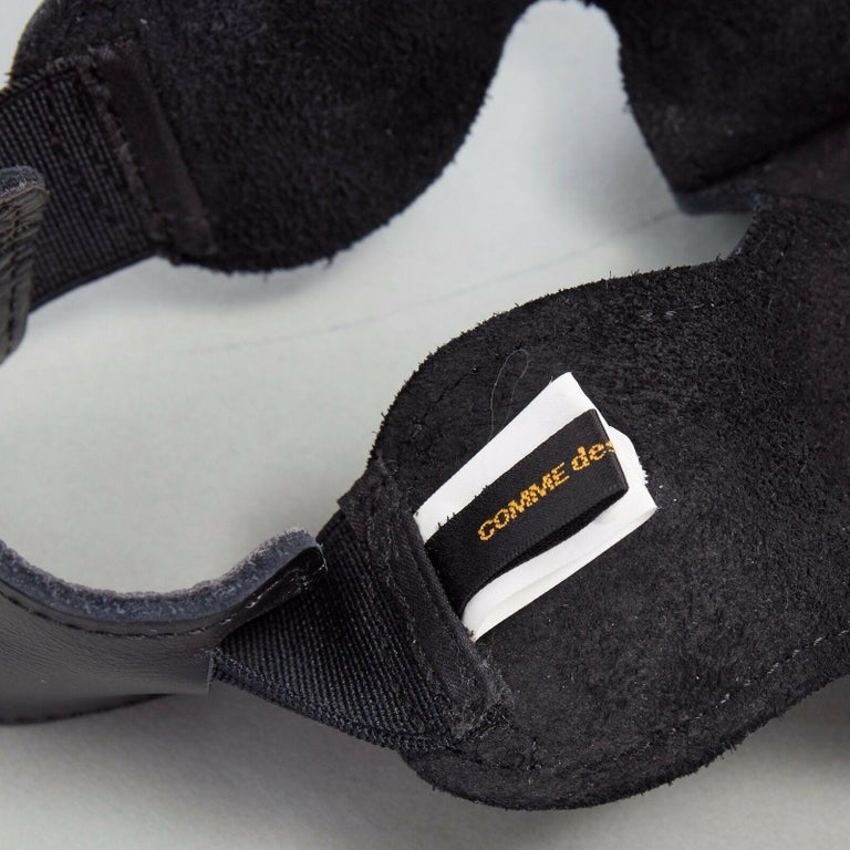 new COMME DES GARCONS SS14 rare black structured padded leather shoe cover 5