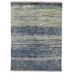New Contemporary Moroccan Rug with Organic Modern Beach Style