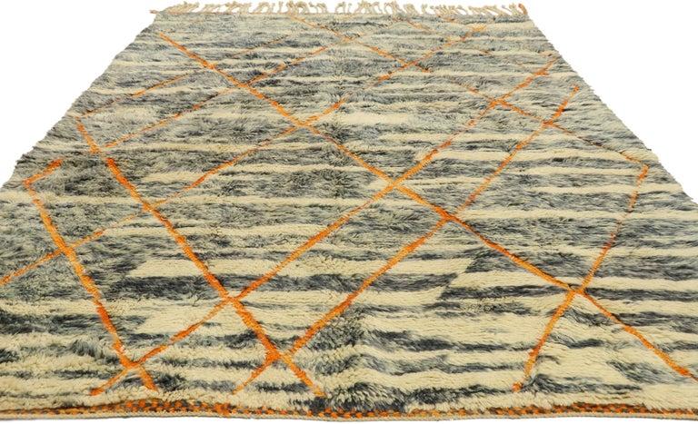 Tribal New Contemporary Beni Mrirt Carpet, Berber Moroccan Rug For Sale