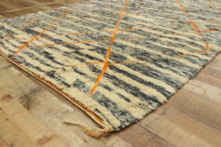 Wool New Contemporary Beni Mrirt Carpet, Berber Moroccan Rug For Sale