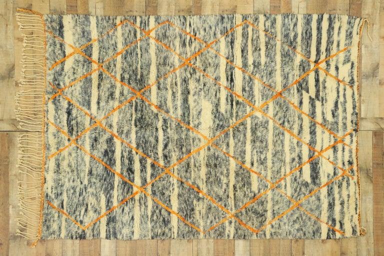 New Contemporary Beni Mrirt Carpet, Berber Moroccan Rug For Sale 2