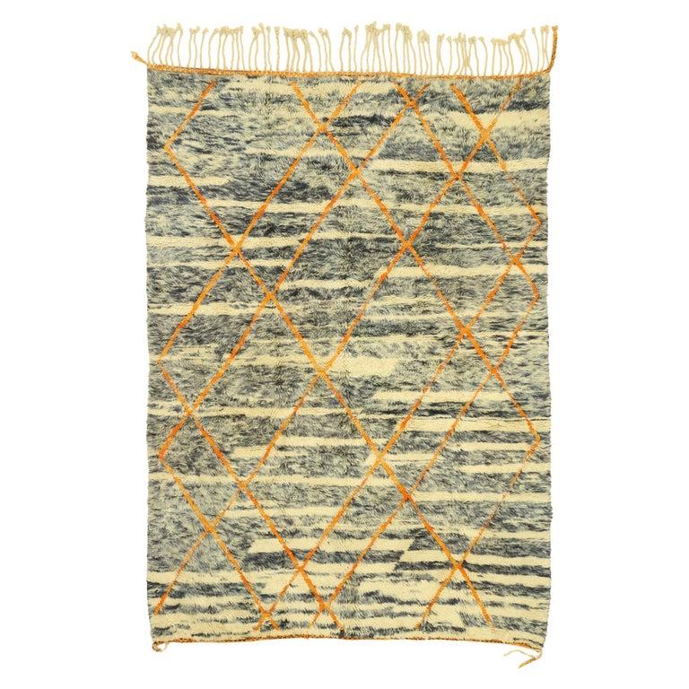 New Contemporary Beni Mrirt Carpet, Berber Moroccan Rug For Sale