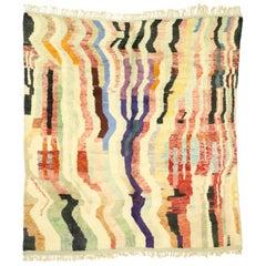 New Contemporary Berber Moroccan Area Rug Inspired by Paul Klee's Rechte Winkel