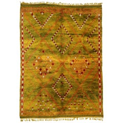 New Contemporary Berber Moroccan Area Rug with Diamond Pattern and Tribal Style