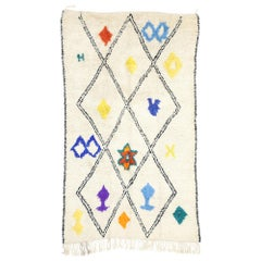 New Contemporary Berber Moroccan Azilal Rug with Bohemian Tribal Style