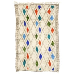 New Contemporary Berber Moroccan Azilal Rug with Cozy Bohemian Hygge Style