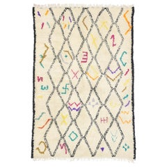 New Contemporary Berber Moroccan Azilal Rug with Hygge Bohemian Tribal Style
