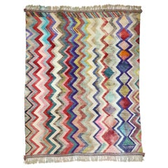 New Contemporary Berber Moroccan Rug Inspired by Missoni Home