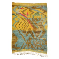 New Contemporary Berber Moroccan Rug with Abstract Expressionist Style