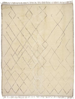 New Contemporary Berber Moroccan Rug with Mid-Century Modern Style