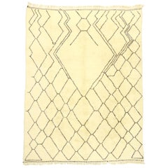 New Contemporary Berber Moroccan Rug with Minimalist Mid-Century Modern Style