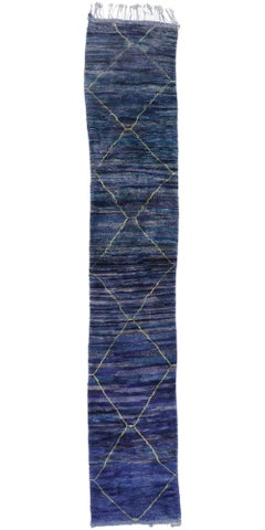 New Contemporary Berber Moroccan Runner with Boho Chic Tribal Style