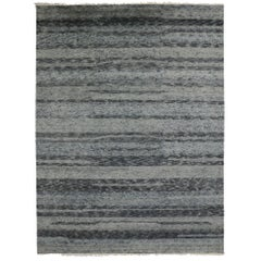 Contemporary Moroccan Gray Rug with New Nordic Hygge Vibes and Bauhaus Style