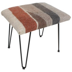 New Contemporary Hand-Felted Wool Stool