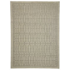 New Contemporary High-Low Geometric Area Rug with Modern Style