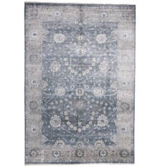 New Contemporary Indian Oushak Wool & Silk Rug with Modern Style
