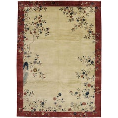 New Contemporary Indo-Chinese Art Deco Rug Inspired by Walter Nichols