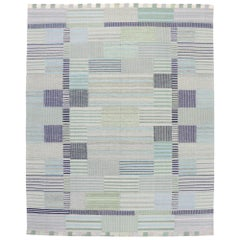 New Contemporary Indo-Swedish Kilim Rug with Bohemian Scandinavian Modern Style