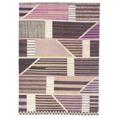 New Contemporary Indo-Swedish Kilim Rug with Scandinavian Modern Abstract Style