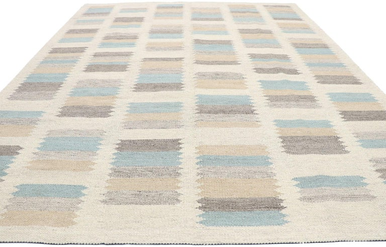 Indian New Contemporary Indo-Swedish Kilim Rug with Scandinavian Modern Style For Sale