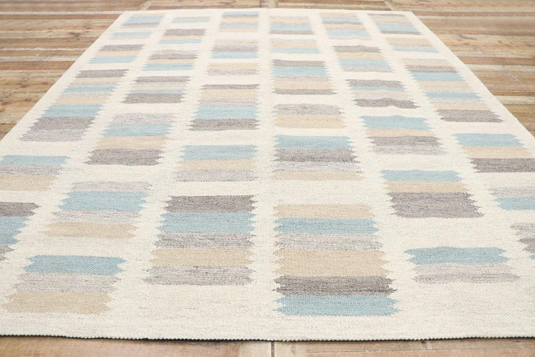 New Contemporary Indo-Swedish Kilim Rug with Scandinavian Modern Style For Sale 1