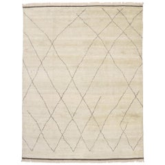 New Contemporary Large Moroccan Area Rug with Cozy Organic Modern Style
