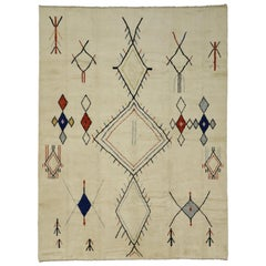New Contemporary Moroccan Area Rug with Adirondack and Nomadic Tribal Style